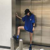 下身失踪t恤女短袖韩版百搭嘻哈怪味少女生帅气酷酷的上衣服潮ins