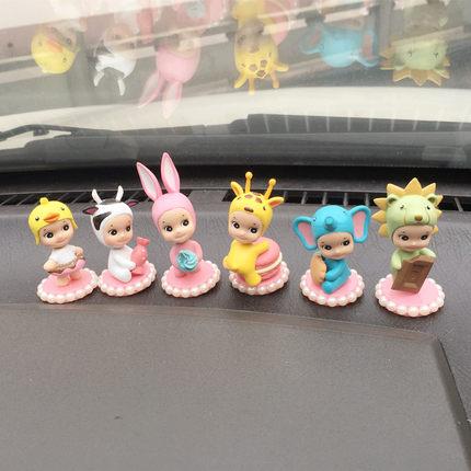 可爱珍珠丘比天使娃娃汽车摇头摆件卡通内饰车载摆件宝宝车内装饰