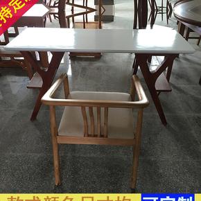 原木组装电脑桌简约现代 定做书架旋转员工长条桌子办公会 书桌铁