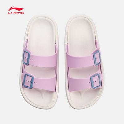 李宁拖鞋女鞋2018Clap轻便夏季女士运动鞋凉鞋沙滩户外鞋AGAN002