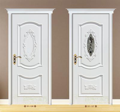 室内门普瑞仕木门欧式压线雕花套装卧室门免漆实木复合门