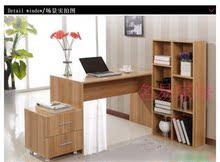 台式电脑桌台式宜家时尚简约电脑桌书柜家用台式办公桌 组合书桌