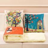 沙发抱枕被子两用枕头汽车办公室午睡枕靠枕被靠垫被空调被三合一