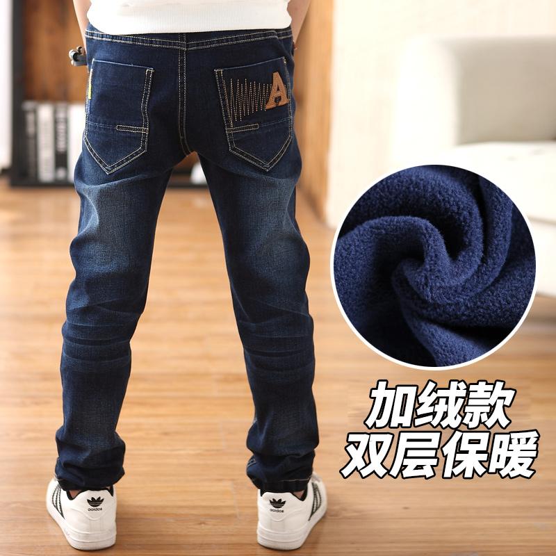 加棉男童牛仔裤