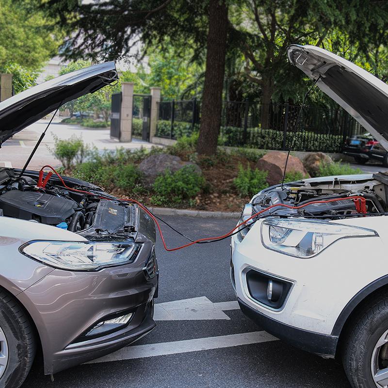 汽车电瓶线搭火线越野车用夹子电瓶连接线打火搭电线应急启动电源