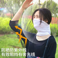 Rock brothers riding mask sunscreen full face ice silk magic headband hood summer bib men and women bicycle equipment