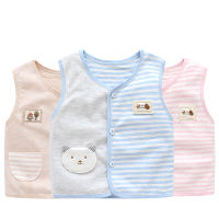 Spring and autumn clothes men and women baby vest baby vest cotton children's vests warm vest shoulder color cotton summer spring thin section