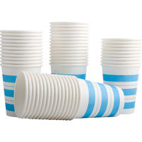 Deli 9560 thick paper cup 250ml 9 ounce 50 pack high temperature leak proof disposable paper cup