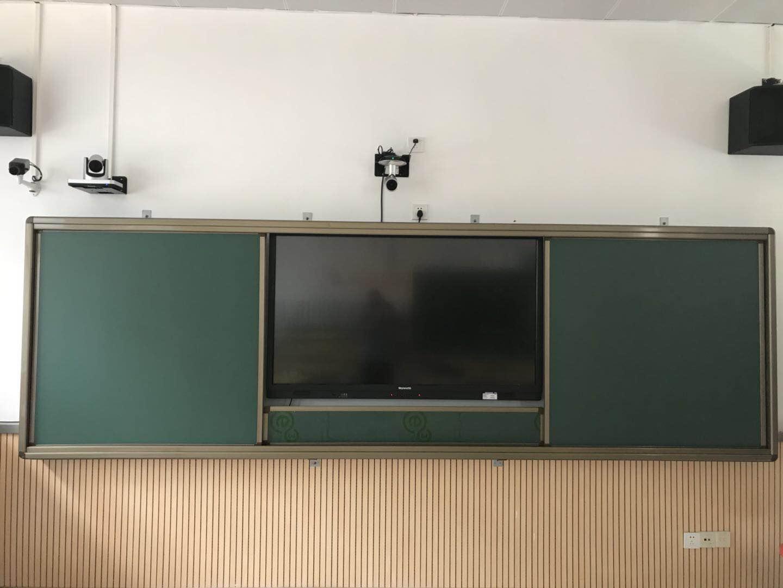 万向白板推拉绿板升降板组合白板大型会议厅学校专用