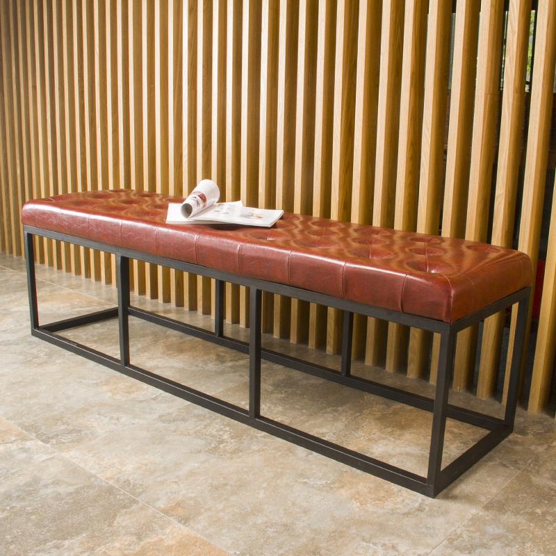 欧式换鞋凳沙发凳铁艺矮凳穿鞋凳简约现代长床尾凳试衣间凳子包邮