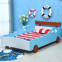 包邮儿童床实木单人床 小孩男孩女孩汽车床卡通个性 带护栏松木