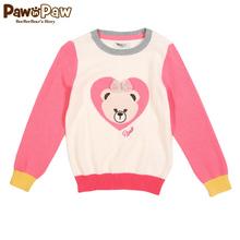 Pawinpaw宝英宝卡通小熊童装17年冬款女童毛衣针织衫PCKW78951A