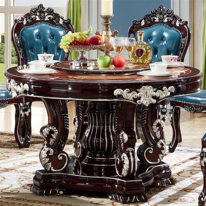 黑檀木圆桌