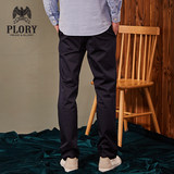 PLORY Spring and Autumn new Korean version of the trend straight tube big pocket workwear loose tight waist casual trousers POTC838003