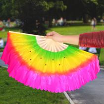Dance fan double-sided square dance fan lengthened 13 or so to fan adult children Yangge fan gradient fan