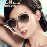 海伦凯勒太阳镜女正品偏光镜新款墨镜蛤蟆太阳眼镜驾驶镜 H8242