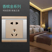 International electrician concealed wall two or three plug type 86 switch socket panel wall type open with five hole USB