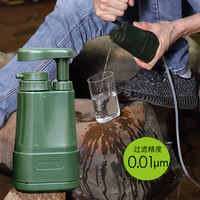 Individual outdoor water purifier camping portable filter survival filter wild water purification equipment L610
