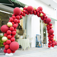 Macaron balloon arch wedding wedding wedding room wedding arrangement balloon baby birthday party store decoration