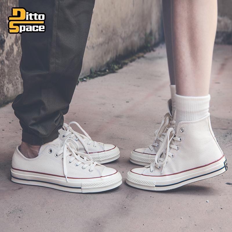 Converse匡威1970s 三星标米白色高帮女162053c低帮帆布鞋162062c