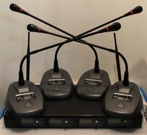 U段无线一拖四会议系统 远程视频会议话筒 会议室台式麦克风1拖4