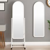 站立式整片1.2米高镜片出租屋壁挂镜子全身穿衣镜落地镜支架欧式