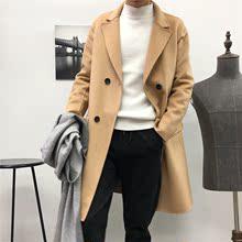 活动驼色重工双面尼大衣羊毛羊绒大衣时尚宽松扩版大衣外套风衣