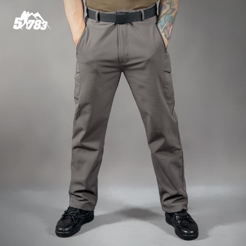 51783 户外运动tad鲨鱼皮软壳裤男 冬防水保暖防风抓绒加厚冲锋裤