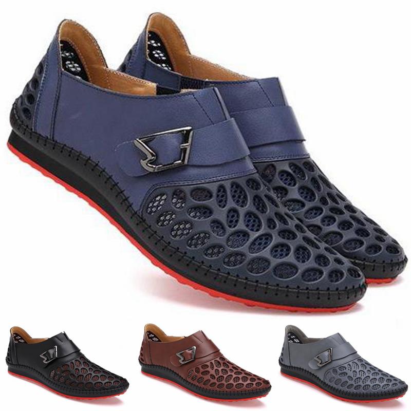 洞洞网纱凉皮鞋