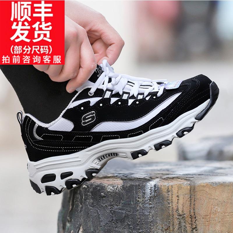 斯凯奇女鞋男鞋2019春季新款休闲鞋经典时尚熊猫鞋休闲鞋跑步鞋潮