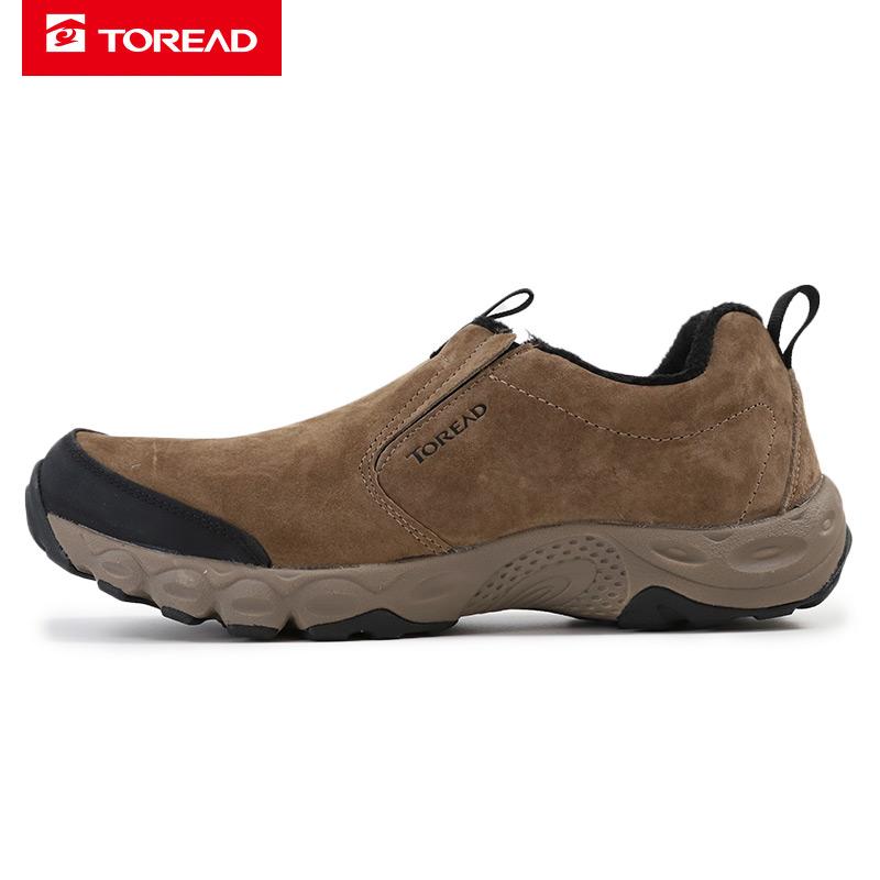 探路者男鞋2019秋冬季新款户外运动鞋保暖一脚穿休闲鞋TFJG91740