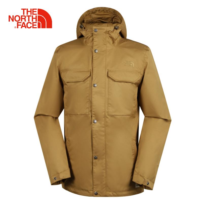 TheNorthFace北面外套男装秋冬季长款户外防风保暖加厚防水冲锋衣
