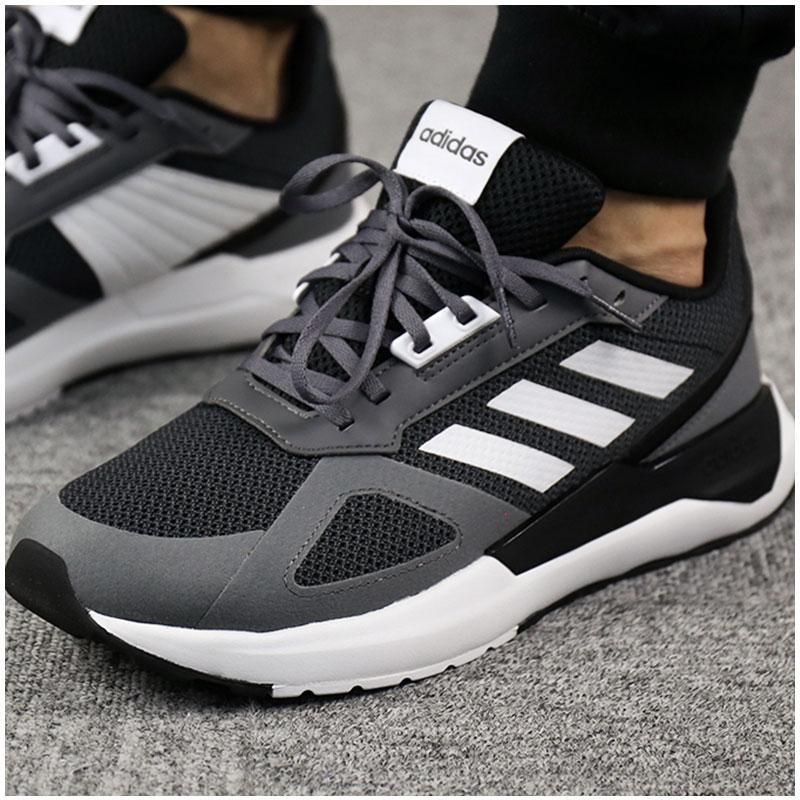 阿迪达斯男鞋2018秋季新款运动鞋透气鞋子休闲鞋网面跑步鞋BB7435