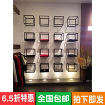 鞋店鞋架展示架上墙服装店包包鞋子化妆品货柜橱窗精品防尘玻璃