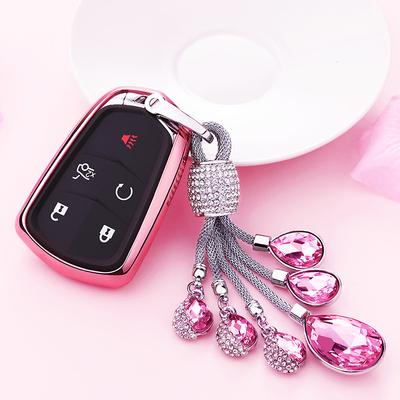 适用凯迪拉克钥匙扣包XT5 ATSL改装XTS卡CT6SRX汽车钥匙套保护壳