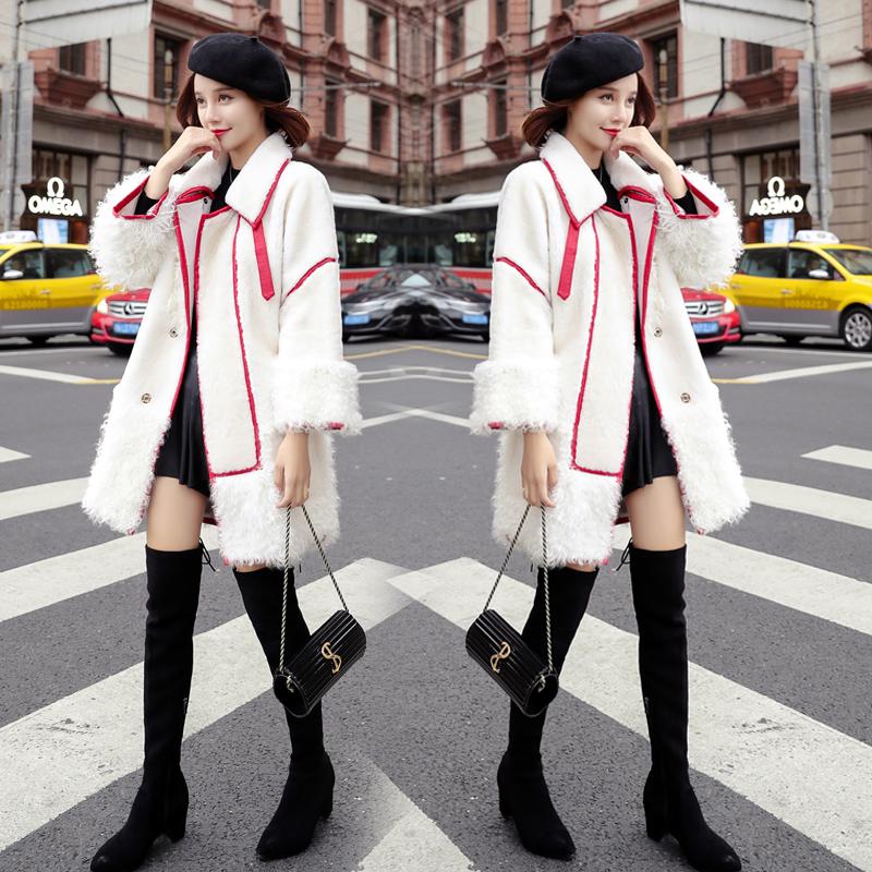 【先领券】2017冬装新款女装韩版白色ins棉服中长款夹棉外套女冬软妹棉衣潮