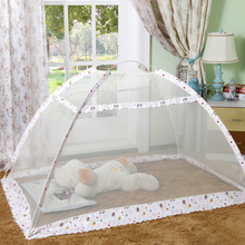 Simple and easy-to-install 0.8*1.4 m foldable nets with brackets for infants aged 1 to 8 years without mosquito nets