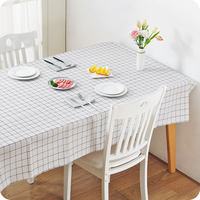 Yousiju Home Tablecloth Waterproof Anti-scalding Oil-proof disposable table cloth Nordic lattice table cloth table cloth table mat