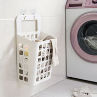 Yousiju Wall-mounted hamper Household bathroom, dirty clothes storage basket, dormitory, bathroom, dirty clothes
