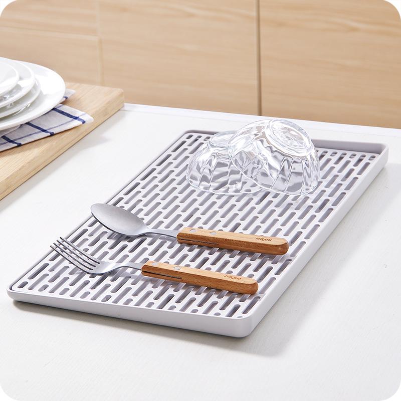 多功能双层沥水盘塑料长方形置物架 创意厨房托盘茶盘家用水果盘