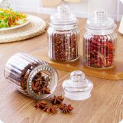 优思居 带盖玻璃密封罐 家用透明茶叶罐玻璃瓶储物罐调料瓶调味罐