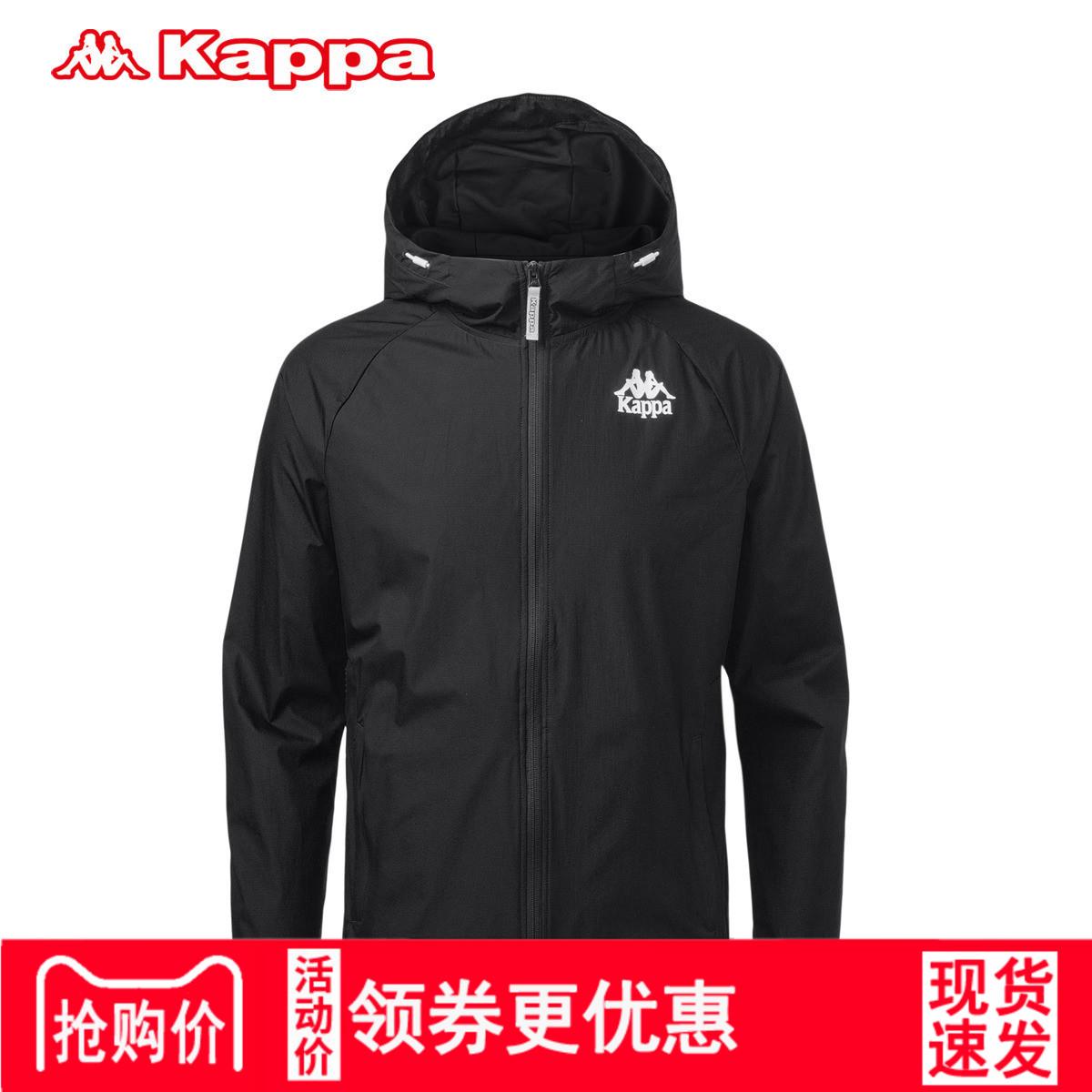 Kappa卡帕男装外套连帽时尚卫衣 防风衣运动服2018新款K0815FJ50D