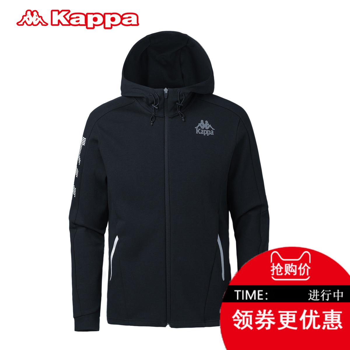 Kappa运动卫衣男装外套卡帕修身连帽运动服2018开衫上衣K0812MK05