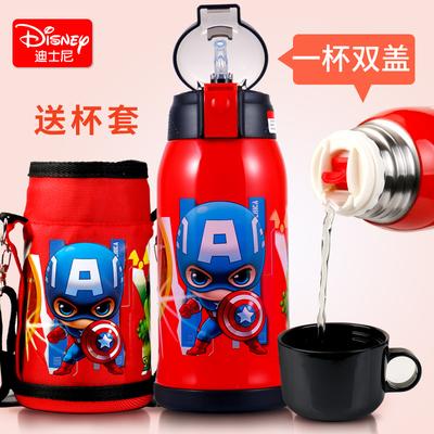 迪士尼儿童保温杯带吸管两用不锈钢防摔宝宝水壶幼儿园小学生水杯哪个牌子好