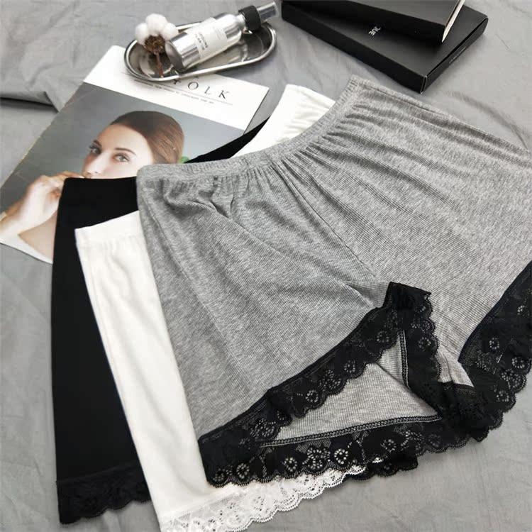 白色蕾絲邊褲裙