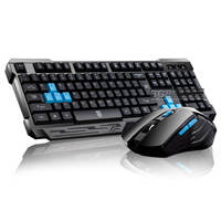 German-Italian Dark Knight Wireless Keyboard Mouse Set Notebook Desktop Computer Keyboard Home Office Games
