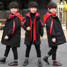 Boys'Cotton Clothes 2018 New Kids' Mid-long Winter Clothes Korean Down Cotton Clothes with Thicker Coat