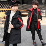 Boys cotton coat 2018 new big children in the long paragraph winter children's Korean version of the down cotton padded coat jacket
