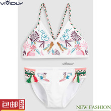 Spot NEXT white embroidered bikini 2018 new big boy split style hot spring bathing suit 2 (3-16 years old)