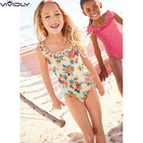 Spot NEXT children's floral one-piece swimsuit 2018 summer children's small girl skirt swimsuit spring bathing suit